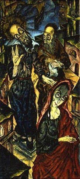 Jankel Adler: Die Segnung des Rabbi Ba'al Shem