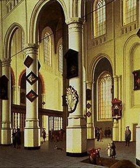 Hendrik Cornelisz van Vliet: Inneres des Oude Kerk in Delft während der Öffnung eines Grabes