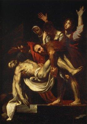 Théodore Géricault: Grablegung Christi. Nach Caravaggio