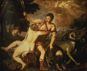 Tizian (Tiziano Vecellio): Venus und Adonis