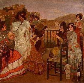Ignazio Zuloaga: Zigeunerinnen auf einer Terrasse in Granada