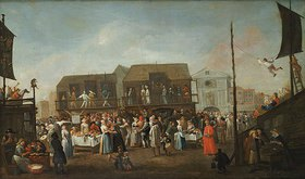 Egbert Ivan Heemskerck: Powells Marionettentheater in Covent Garden (Bartholomäus-Fest)