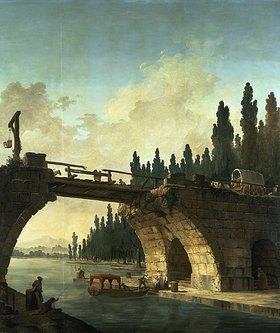 Hubert Robert: Die zerstörte Brücke