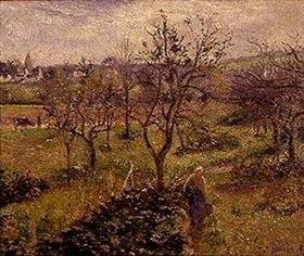 Camille Pissarro: Landschaft mit Gemüsegarten bei Eragny