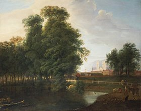 John Inigo Richards: London, Blick durch Bäume auf die Westminster Abbey