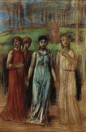 Hans von Marées: Singende Mädchen. Gegen
