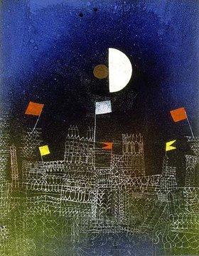 Paul Klee: Beflaggte Stadt
