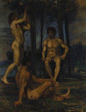 Hans von Marées: Drei Jünglinge unter Orangenbäumen