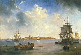 John Wilson Carmichael: Hafen von Hartlepool mit Schiffen