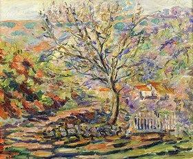 Jean-Baptiste Armand Guillaumin: Landschaft mit Baum und Häusern (Maison dans un Paysage)