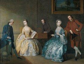 John Thomas Seton: Die Familie Chambers beim Musizieren