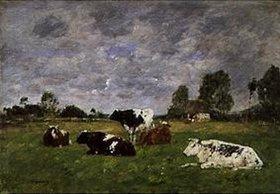 Eugène Boudin: Rinder auf der Weide