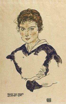Egon Schiele: Bildnis des Fräulein Toni Rieger. 1917.