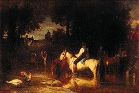 Hans von Marées: Die Pferdeschwemme