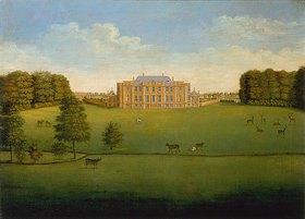 Englisch: Blick über den Park auf Gautby Hall