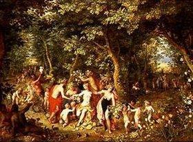 Jan Brueghel d.Ä.: Der Überfluss, oder Huldigung an die Götter, oder Vier Jahreszeiten