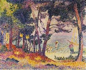 Henri Edmond Cross: Unter Pinien (Provence)