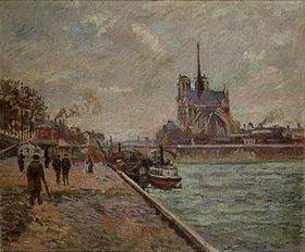 Jean-Baptiste Armand Guillaumin: Seinequai in Paris mit Blick auf Notre-Dame