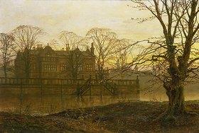Louis H Grimshaw: Englisches Landhaus im Herbstdunst