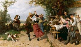 Théodore Gérard: Tanz vor einem ländlichen Wirtshaus
