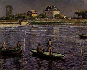 Gustave Caillebotte: Fischerboote auf der Seine