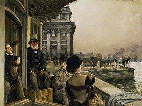 James Jacques Tissot: Auf der Terrasse der Trafalgar-Taverne in Greenwich