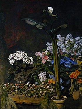 Auguste Renoir: Blumenstilleben (Arum und Gewächshaus- pflanzen)