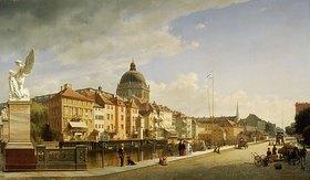 Johann Philipp Eduard Gaertner: Berlin, Schlossfreiheit von der Schlossbrücke gesehen