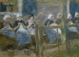 Max Liebermann: Nähstube in Huizen