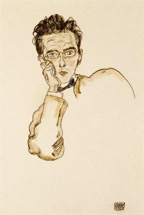 Egon Schiele: Bildnis des Kunsthändlers Paul Wengraf. 1917.