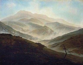 Caspar David Friedrich: Riesengebirgslandschaft mit aufsteigendem Nebel