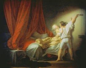 Jean Honoré Fragonard: Der Riegel (Liebeswünsche). Vor