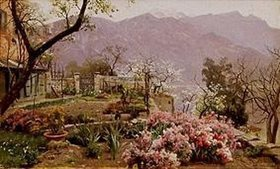 Peder Moensted: Blumengarten bei Bellagio