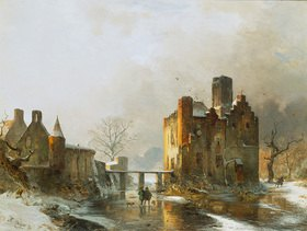 Carl Hilgers: Kastell Dornburg im Winter