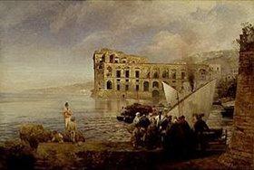 Oswald Achenbach: Bucht bei Neapel mit dem Palast der Königin Johanna