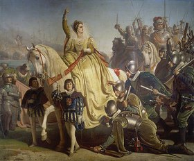 Ferdinand Piloty d.J.: Königin Elisabeth von England hält im Angesicht der span.Armada Heerschau