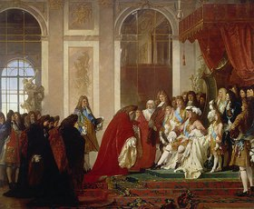 Ferdinand Pauwels: Ludwig XIV. empfängt in Versailles eine genuesische Gesandtschaft