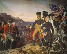 Eugen Hess: Übergabe der Festung Yorktown an Washington