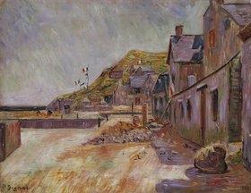 Paul Signac: Bauernhäuser an der französischen Küste