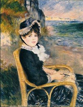 Auguste Renoir: Häkelnde Frau am Ufer des Meeres
