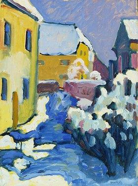Wassily Kandinsky: Friedhof und Pfarrhaus in Kochel