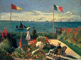 Claude Monet: Die Terrasse am Meeresufer von Sainte-Adresse