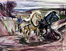 Edvard Munch: Pflüger im Frühling