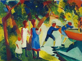 August Macke: Kinder am Wasser