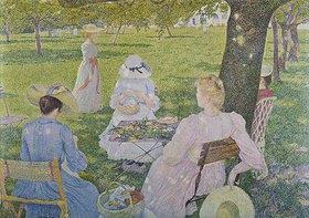 Theo van Rysselberghe: Familie im Obstgarten