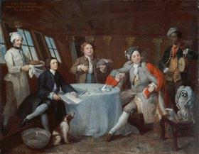 William Hogarth: Captain Lord George Graham in seiner Kabine