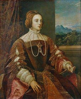 Tizian (Tiziano Vecellio): Isabella von Portugal
