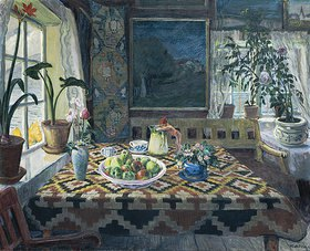 Nikolai Astrup: Wohnstube in Sandalstrand