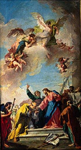 Giovanni Battista Pittoni: Christus übergibt Petrus die Schlüssel zum Paradies