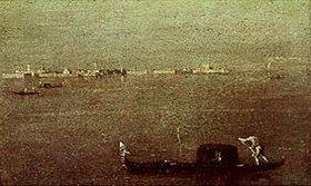Francesco Guardi: Gondoliere auf der Lagune vor Venedig